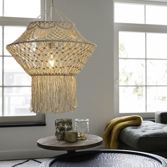 Landelijke-hanglamp-macramé-90-cm---String