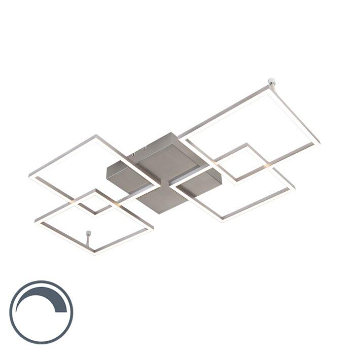 Design-plafondlamp-staal-incl.-LED-en-dimmer---Plazas-Mondrian