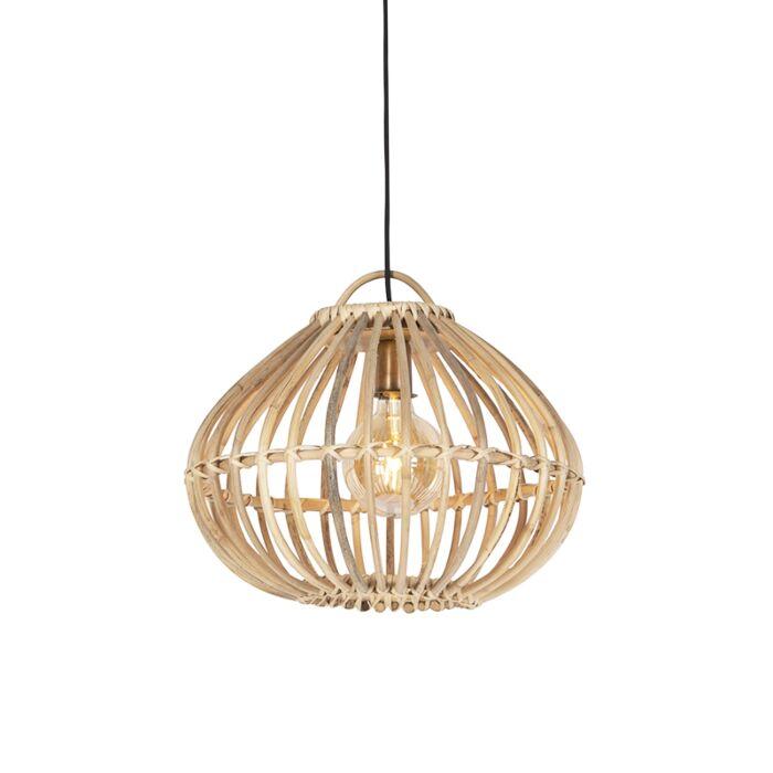 Landelijke-hanglamp-naturel-bamboe---Cane-Drop