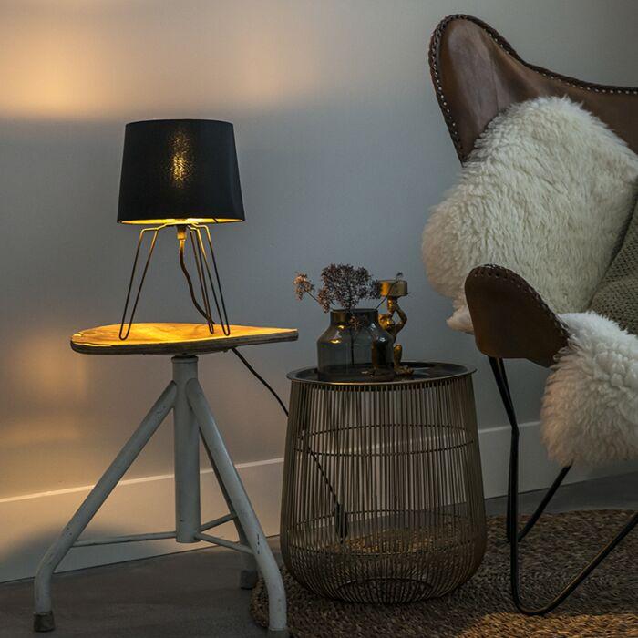 Moderne-tafellamp-zwart---Lofty