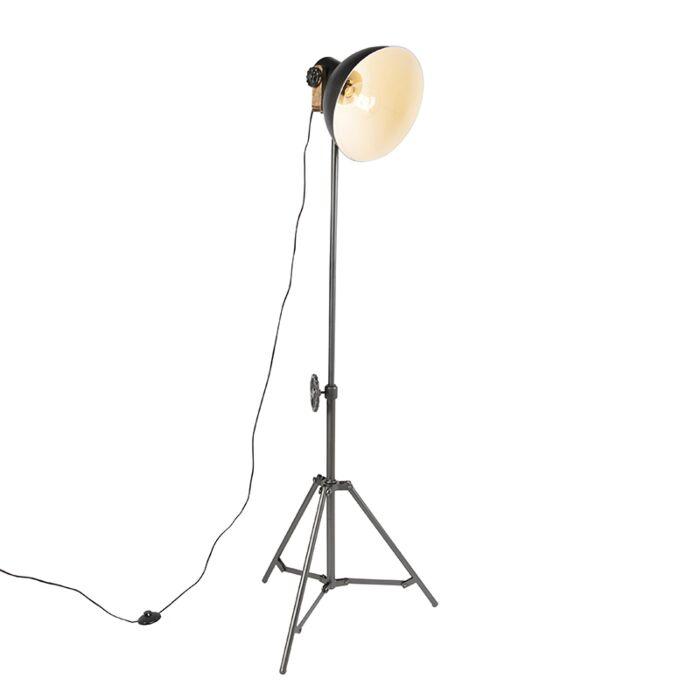 Industriële-vloerlamp-tripod-zwart---Mangoes