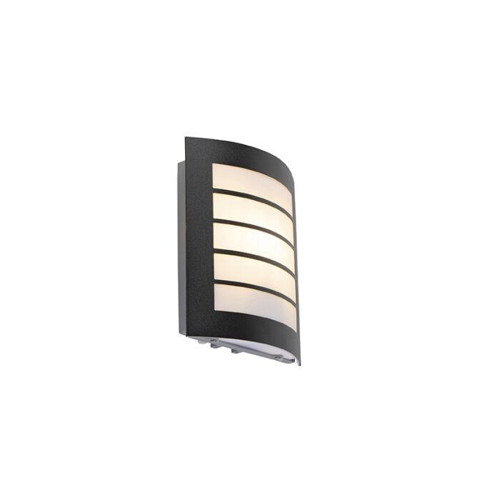 Buitenwandlamp-zwart-IP44-met-licht-donker-sensor---Miro