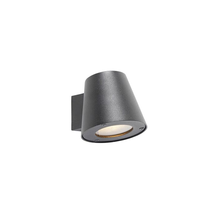 Moderne-buitenwandlamp-zwart-IP44---Skittle