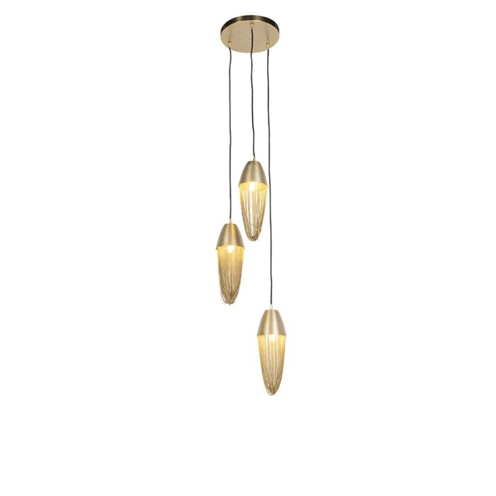 Oosterse-hanglamp-goud-3-lichts---Catena