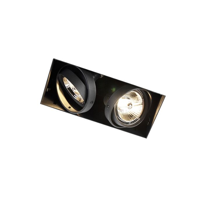 Inbouwspot-zwart-GU10-AR70-trimless-2-lichts---Oneon