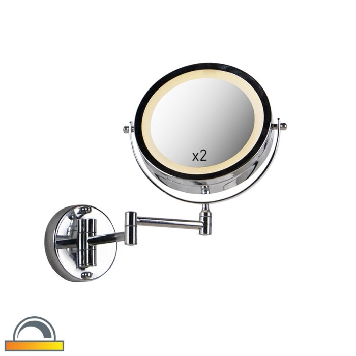Design-wandspiegel-chroom-incl.-LED-dim-to-warm-verstelbaar-IP44---Vicino