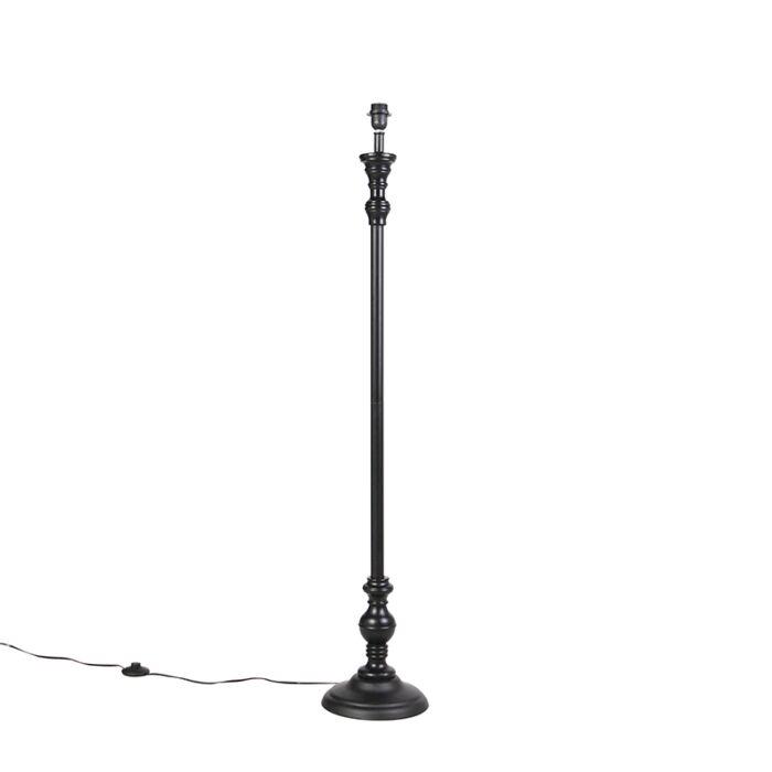 Klassieke-vloerlamp-zwart---Classico