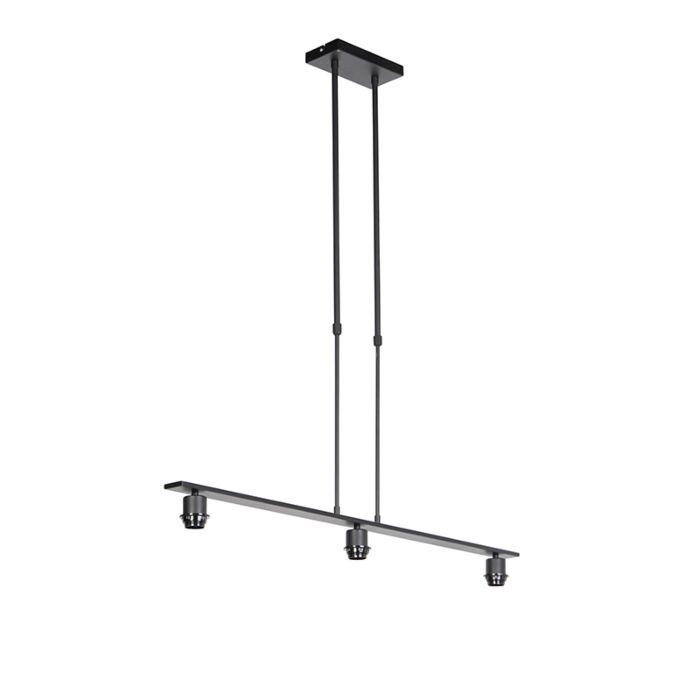 Hanglamp-zwart-zonder-kap---Combi-3-Deluxe