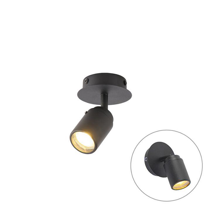 Moderne-badkamer-spot-zwart-IP44---Ducha