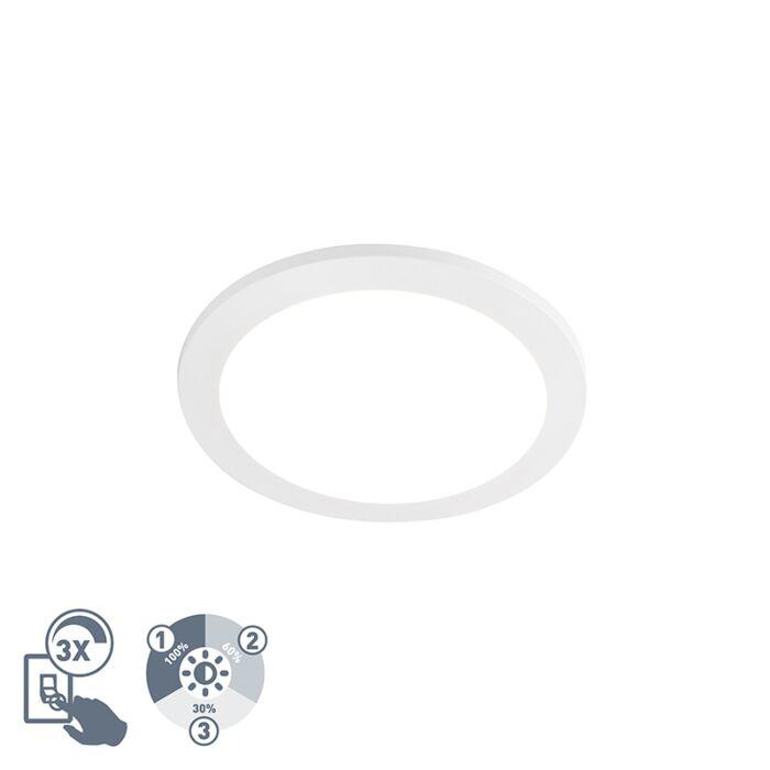 Plafondlamp-wit-29,2-cm-incl.-LED-IP44---Camilla