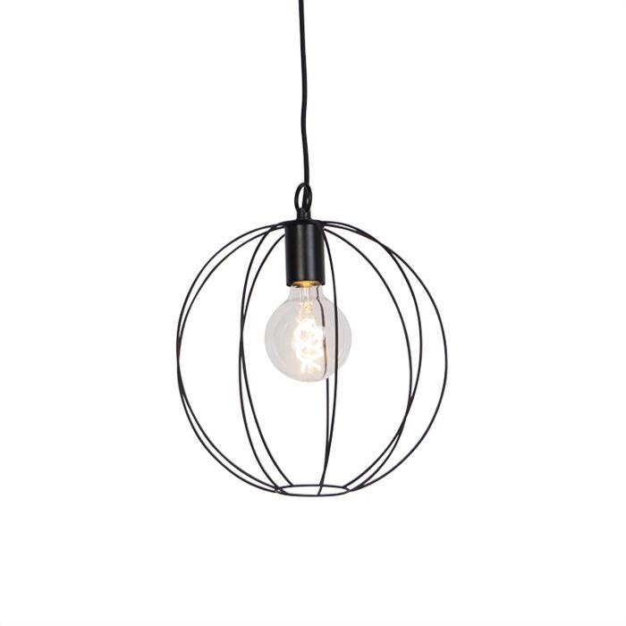 Design-ronde-hanglamp-zwart-30-cm---Pelotas
