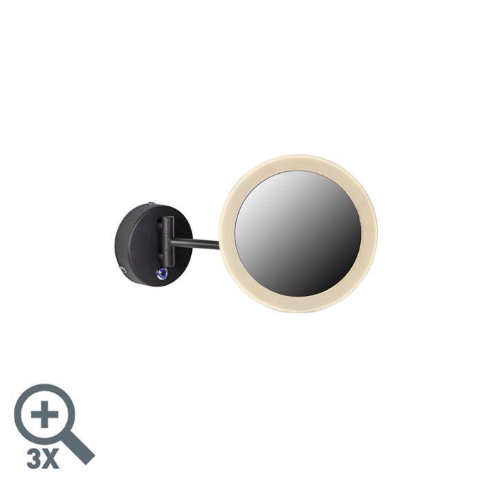 Design-wandspiegel-zwart-incl.-LED-IP44--Barba