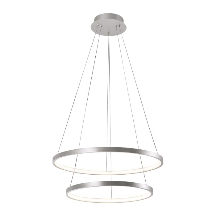 Moderne-ring-hanglamp-zilver-incl.-LED---Anella-Duo