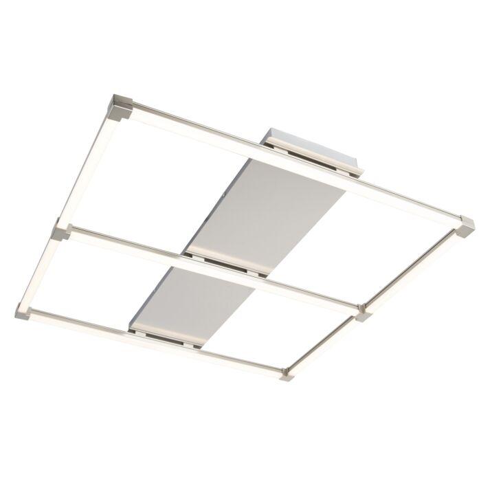 Design-vierkante-plafondlamp-staal-incl.-LED---Plazas-basic