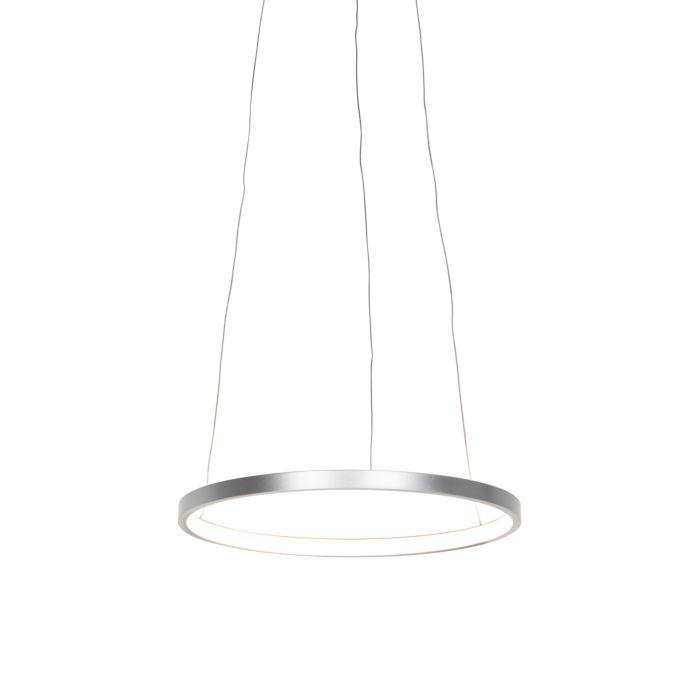Moderne-ring-hanglamp-zilver-40-cm-incl.-LED---Anella