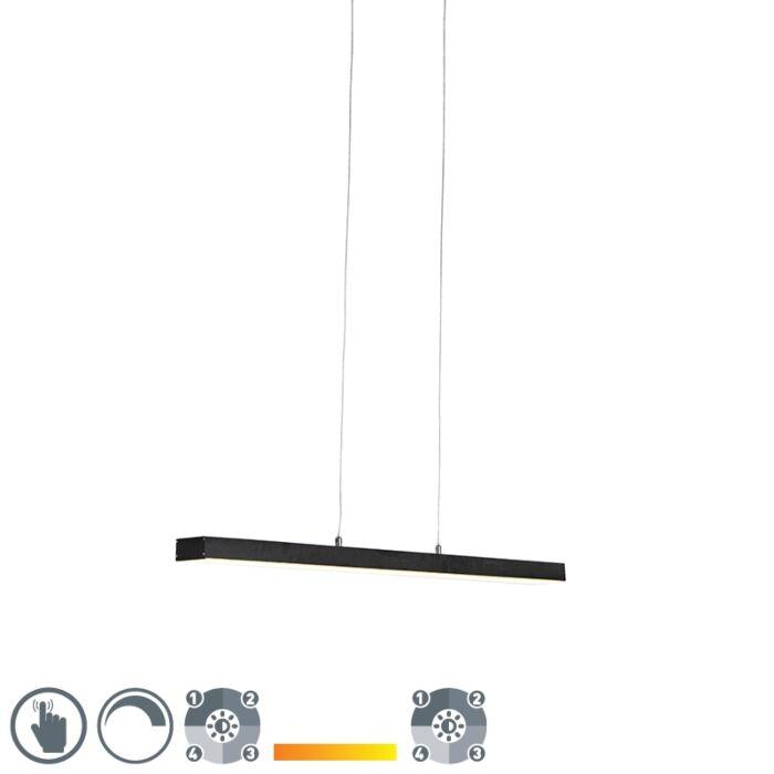 Hanglamp-zwart-vier-staps-dimbaar-incl.-LED-met-touch-dimmer---Oganda