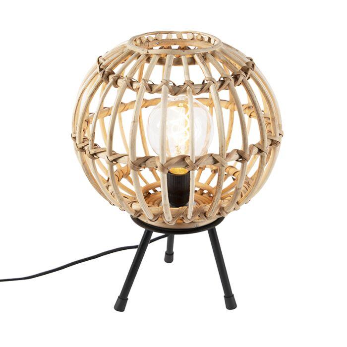 Landelijke-tafellamp-bamboe-30-cm---Canna