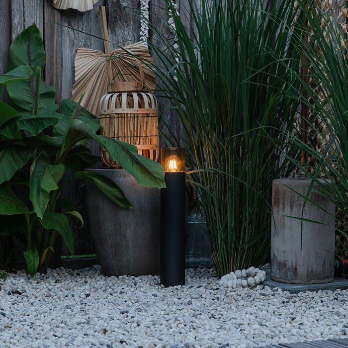 Moderne-staande-buitenlamp-zwart-50-cm---Odense