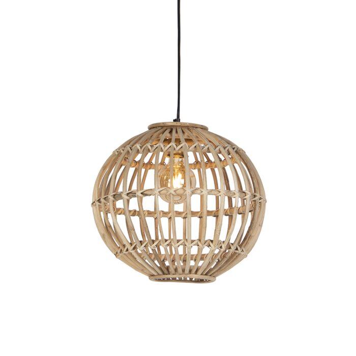 Landelijke-hanglamp-naturel-bamboe---Cane-Ball-40