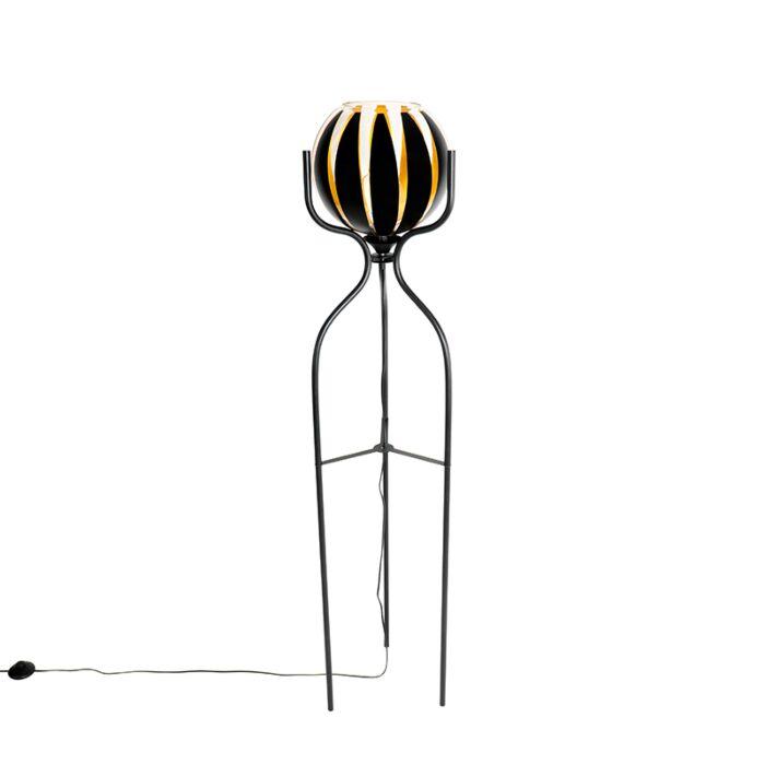 Design-vloerlamp-zwart-met-goud---Melone