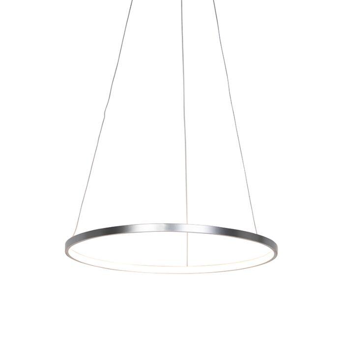 Moderne-ring-hanglamp-zilver-60-cm-incl.-LED---Anella