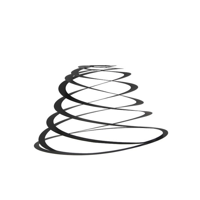 Stalen-lampenkap-zwart-50-cm---Spiraal