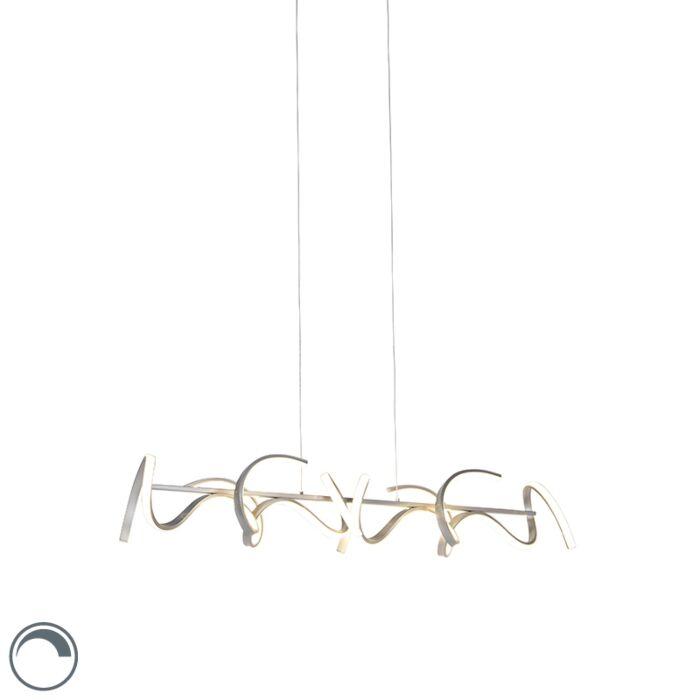 Design-hanglamp-zilver-dimbaar-incl.-LED---Krisscross