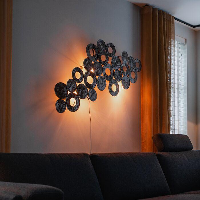 Art-Deco-wandlamp-koper-138-cm---Circles
