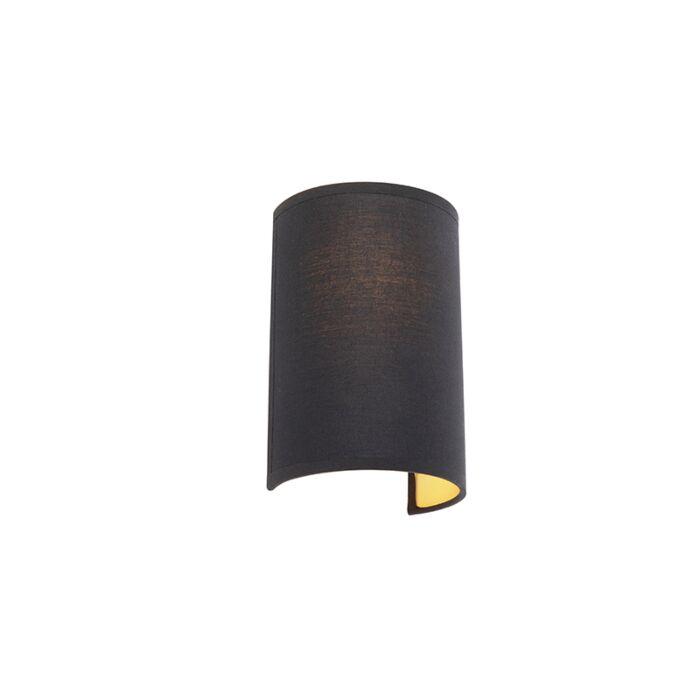 Moderne-wandlamp-zwart-en-goud---Simple-Drum