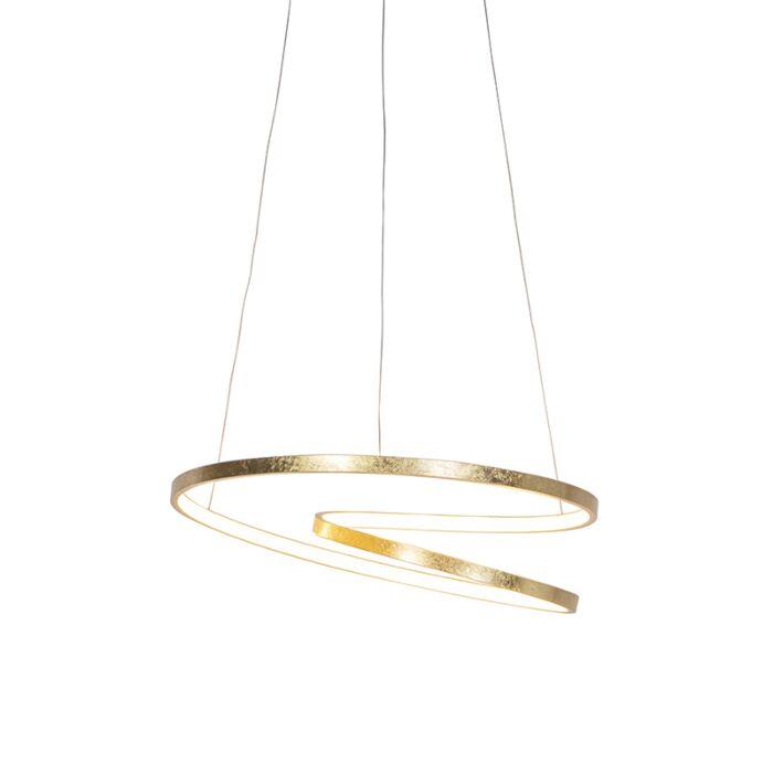 Art-Deco-hanglamp-goud-incl.-LED---Rowan