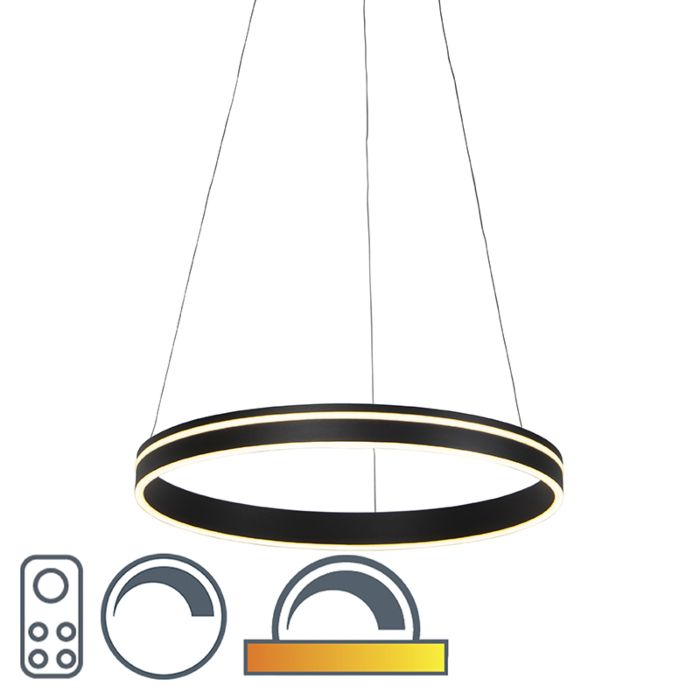 Moderne-hanglamp-antraciet-dim-to-warm-incl.-LED---Ronith