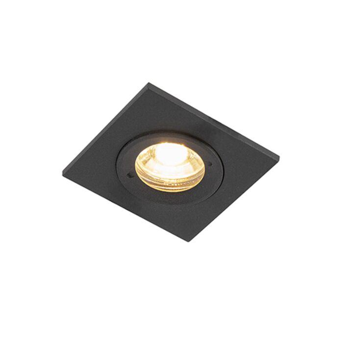 Moderne-inbouwspot-zwart-IP44---Xena-Square