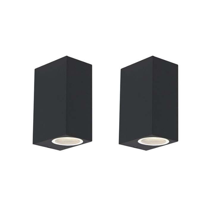 Set-van-2-moderne-wandlampen-zwart-IP44---Baleno-II