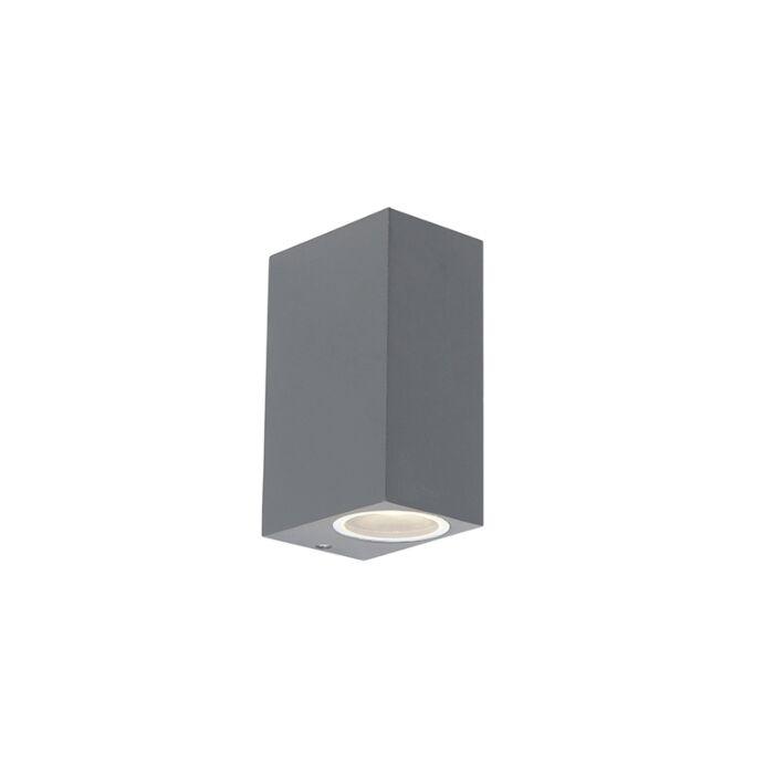Set-van-2-moderne-wandlampen-antraciet-IP44---Baleno-II
