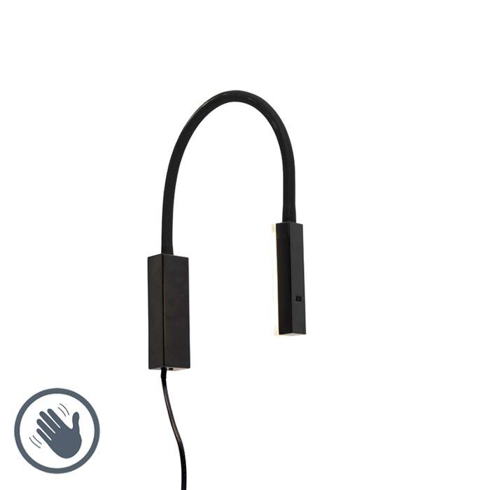 Design-wandlamp-zwart-met-flexarm-dimbaar-incl.-LED---Lenta