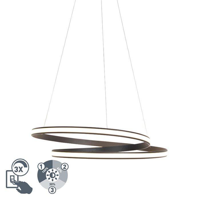 Moderne-hanglamp-zwart-74cm-incl.-LED-3-staps-dimbaar---Rowan