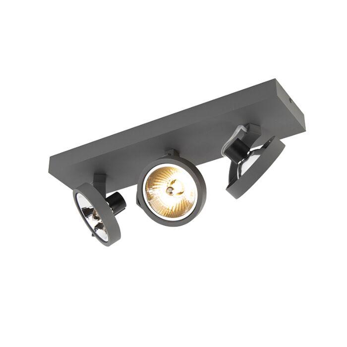 Design-spot-grijs-verstelbaar-3-lichts-incl.-3-x-G9---Go
