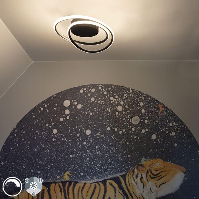 Design-plafondlamp-zwart-incl.-LED-3-staps-dimbaar---Rowan