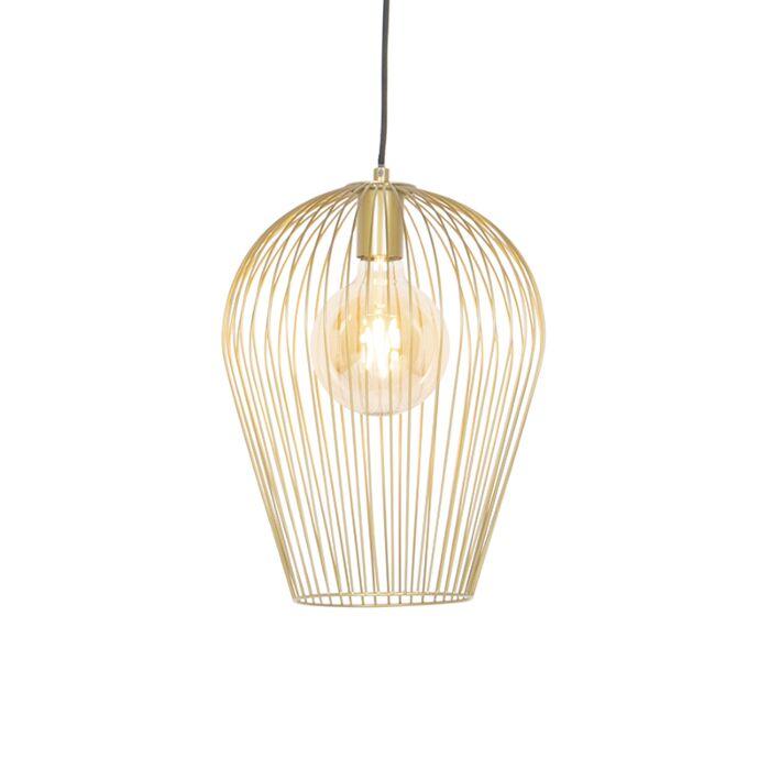 Design-hanglamp-goud---Wire-Ario