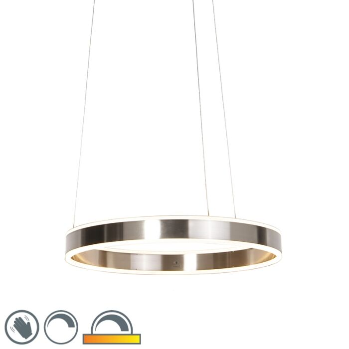 Moderne-hanglamp-staal-incl.-LED-60-cm-dim-to-warm---Ollie