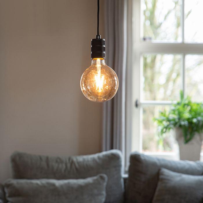 Moderne-hanglamp-zwart---Cavalux
