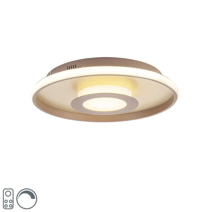 Plafonnière-goud-45-cm-incl.-LED-met-afstandsbediening---Oculus