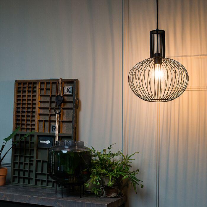 Design-hanglamp-zwart---Wire-Bake