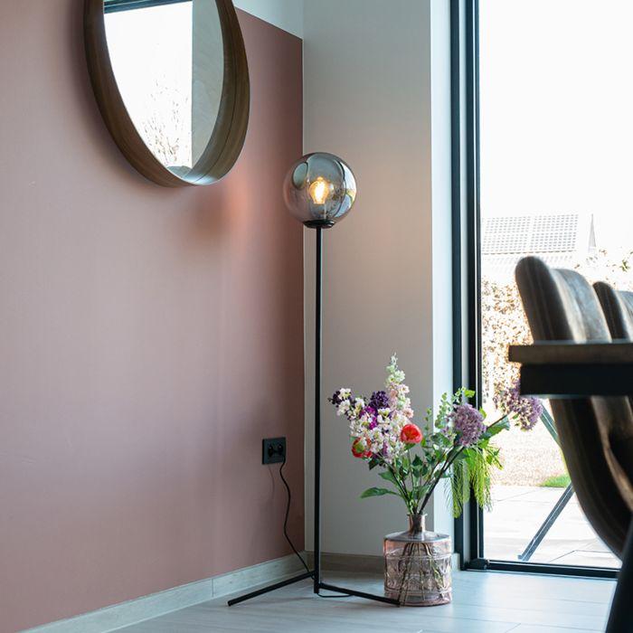 Art-Deco-vloerlamp-zwart-met-smoke-glas---Pallon
