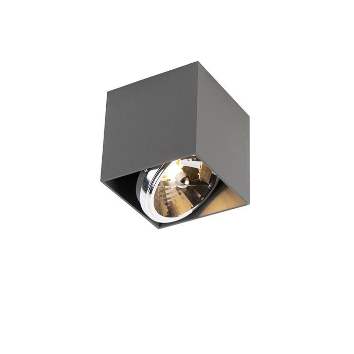 Design-spot-vierkant-1-lichts-grijs-incl.-1-x-G9---Box