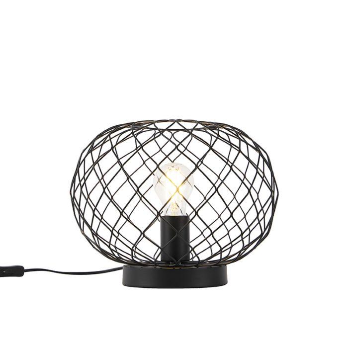 Art-Deco-tafellamp-zwart---Helian