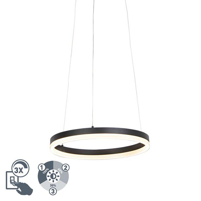 Design-ring-hanglamp-zwart-40-cm-incl.-LED-en-dimmer---Anello