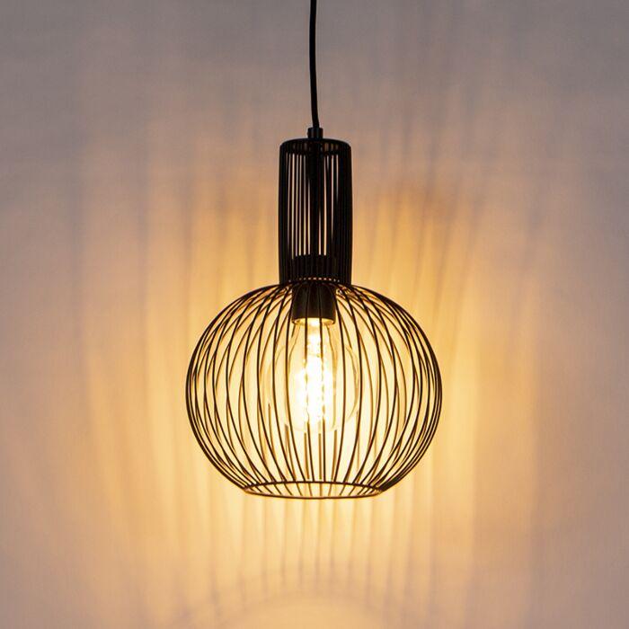Design-hanglamp-zwart---Wire-Whisk