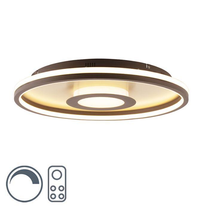 Plafonnière-goud-59-cm-incl.-LED-met-afstandsbediening---Oculus