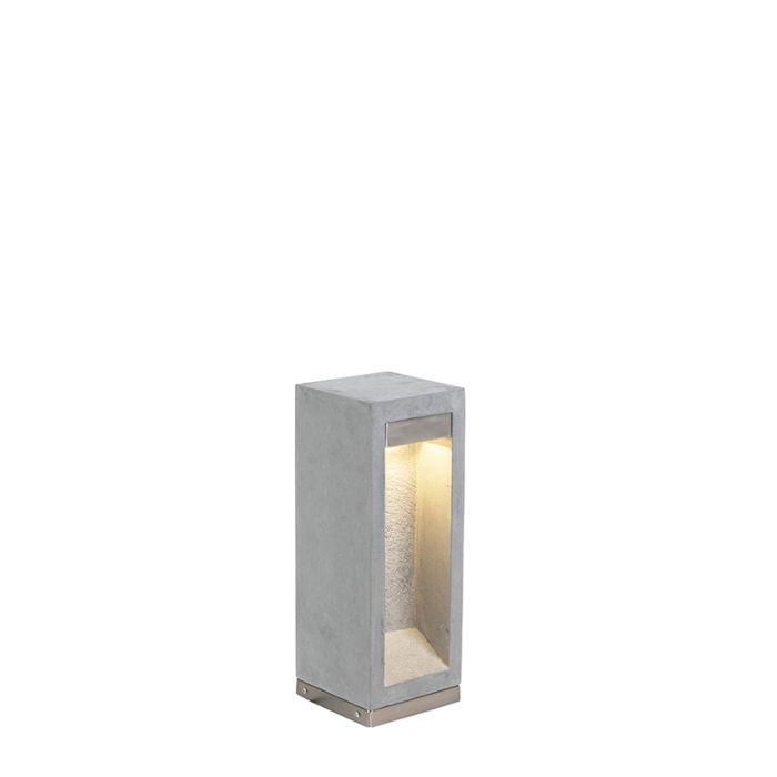 Moderne-staande-buitenlamp-bazalt-40-cm---Sneezy